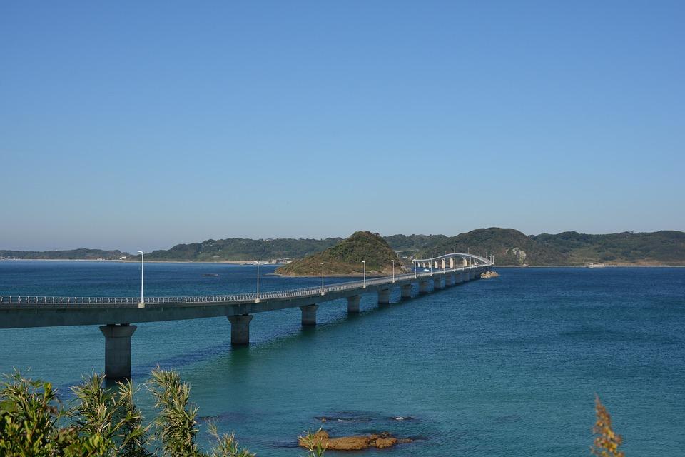 山口県 角島大橋 海 空