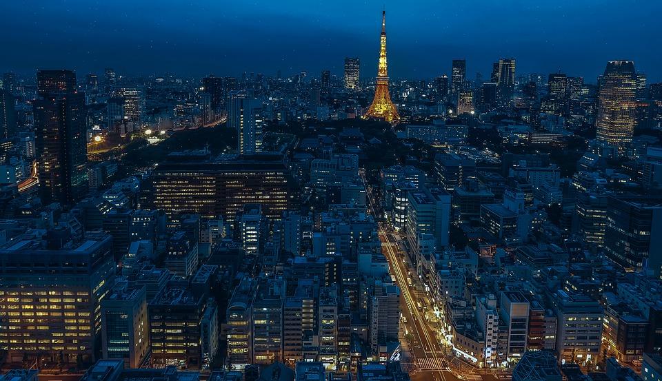 東京 日本 東京タワー 夜 夜の街 タワー 高層ビル 近代都市 街 アーキテクチャ