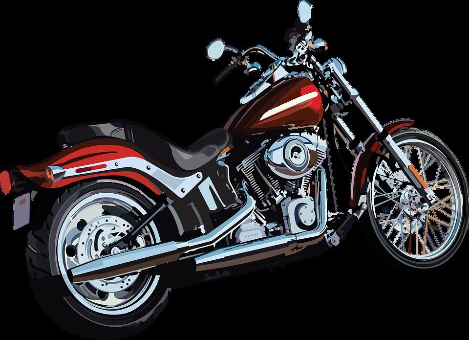 オートバイ アメリカン バイク 赤色