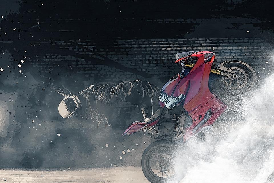 オートバイ ヘルメット ウィーリー バイク