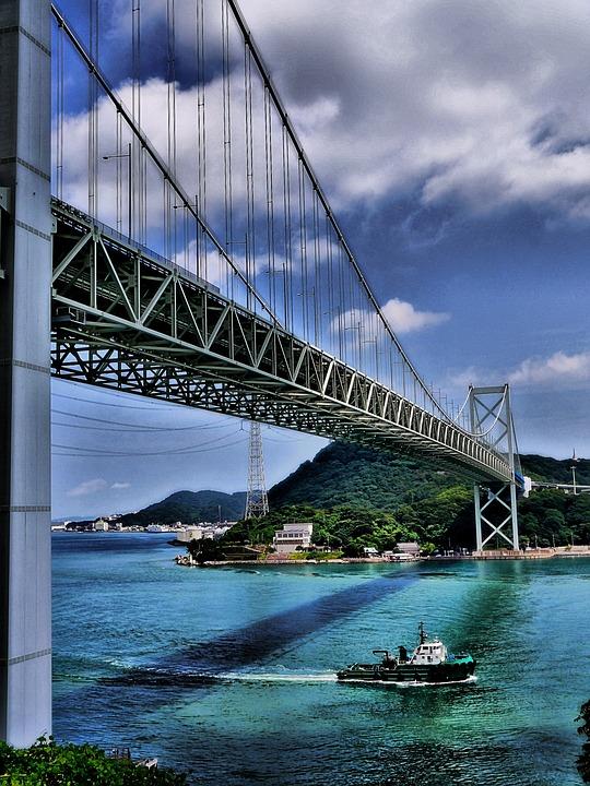 橋 日本 下関 船 海 風景