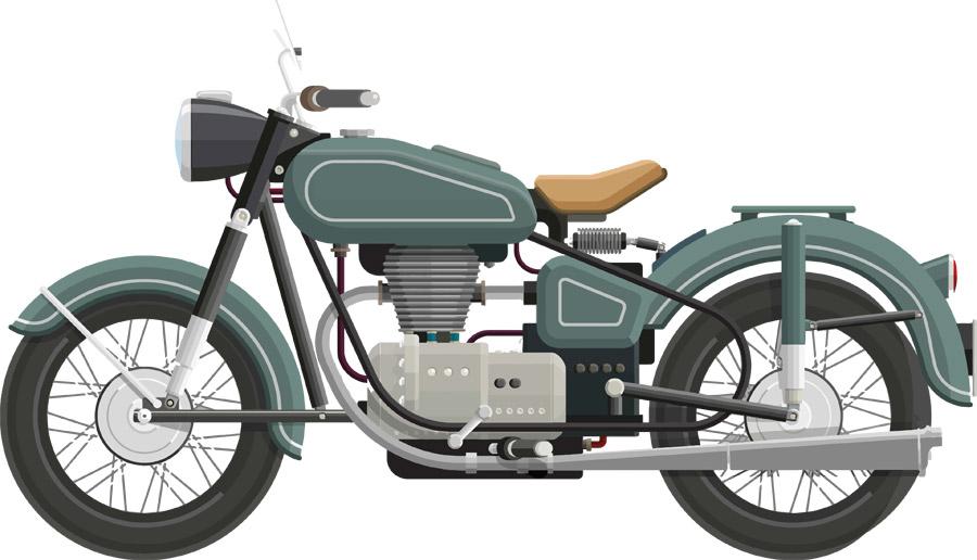 古いオートバイ