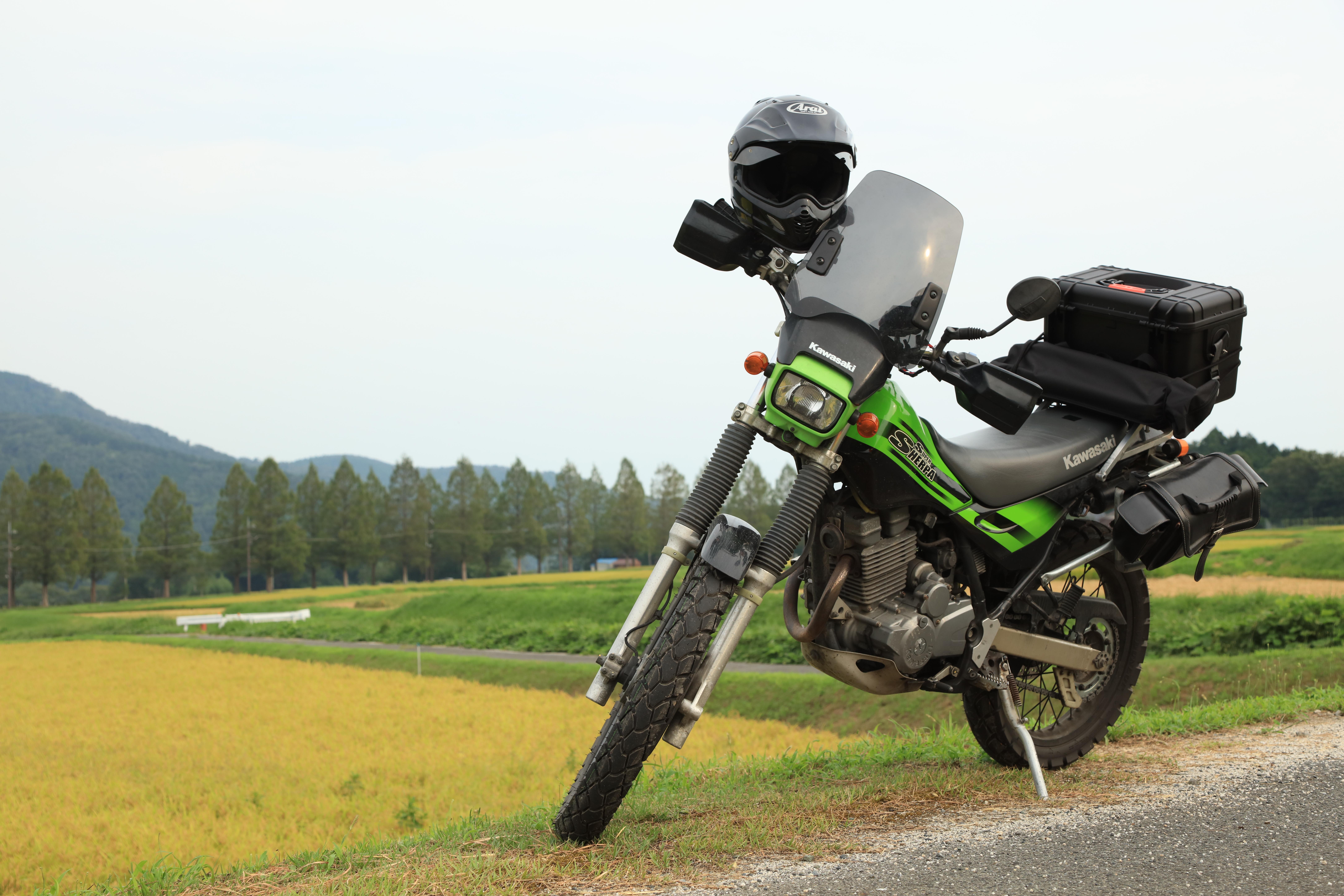カワサキ・スーパーシェルパ アライ ヘルメット ツーリング バイク オートバイ オフロード